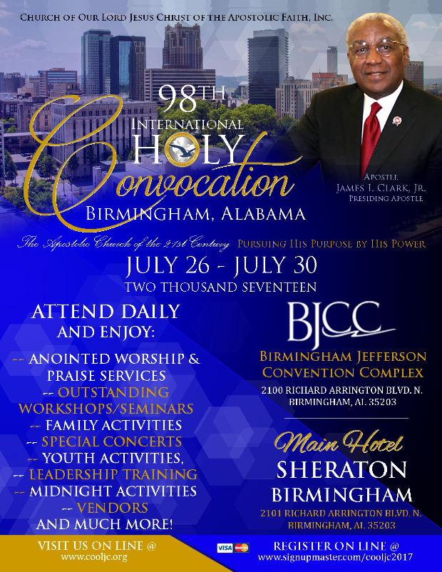 98th Annual International Holy Convocation – COOLJC @ Sheraton Birmingham | Birmingham | Alabama | United States