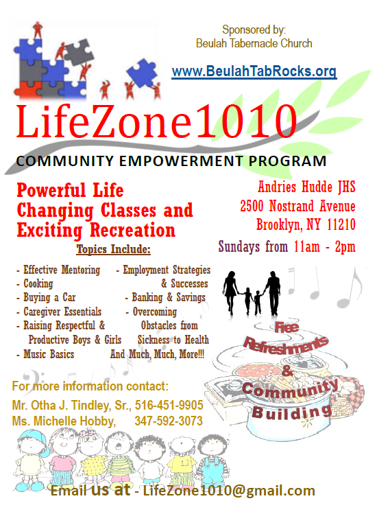 LifeZone1010 Sundays at Hudde Fall and Winter 2017 @ Andries Hudde Junior High School | New York | United States
