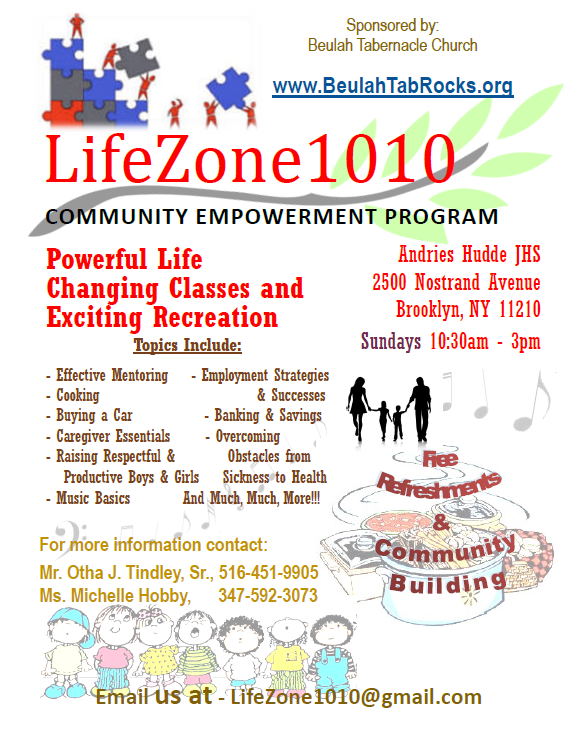 LifeZone1010 Sundays at Hudde Fall and Winter 2018 @ Andries Hudde Junior High School | New York | United States